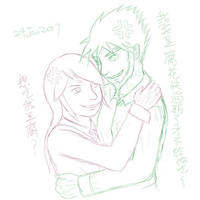 River and Michael hug by RiverKpocc