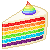 Piece Of Rainbow Layers Cake 50x50 icon