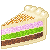 Piece Of 3 Colours Cake 50x50 icon