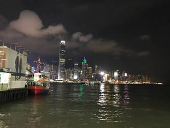 Star Ferry and Victoria Harbour by RiverKpocc