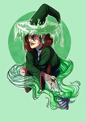 Green Poison Witch by Alaula-Lynamar
