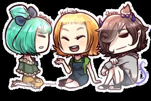 Haruna, Melina y Shinn...!! -CO- by NathyLove5