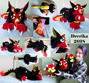 CM: Flames huge plushie by Drerika