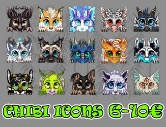 6-10 eur icon commissions OPEN by Drerika