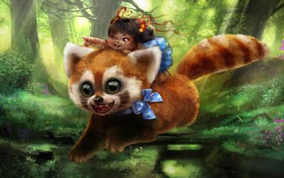 The Giant Red Panda by yamiza
