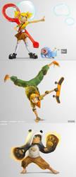 Super Brawl 3 Concept art by yamiza
