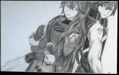 Chrom and Lucina (Fire Emblem: Awakening) by Shadowkeyheart
