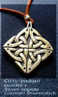Silver celtic pendant by dragonladych