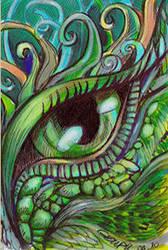 ATC Dragon Eye by dragonladych