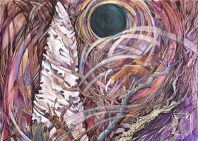 Blackhole Moon by dragonladych
