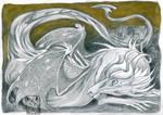 Small Gold Dragon by dragonladych