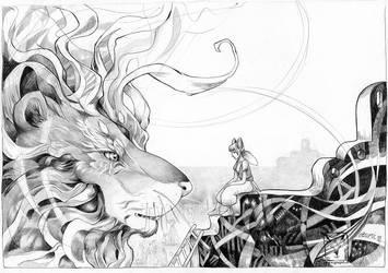 The Lion by dragonladych