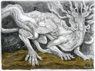 Crested Dragon by dragonladych