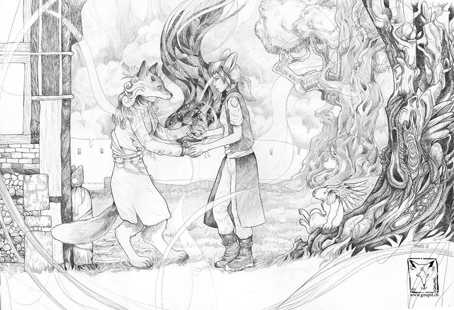 Fox Mother by dragonladych