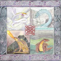 Elemental Dragons-final by dragonladych