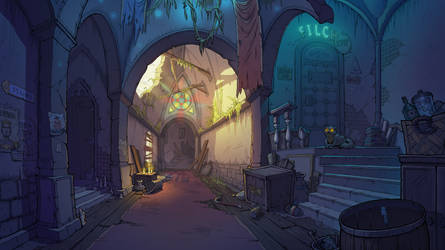 Abandoned corridor by scerg