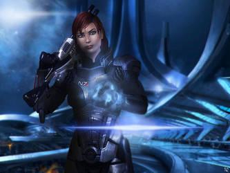 Mass Effect - FemShep by ToxicQuinn