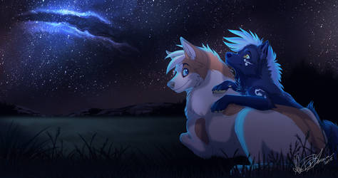 Under the Stars - DetectiveRJ commissions by Kairi292