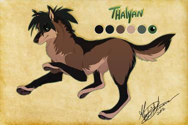 Thalyan - Thorinfrostclaw Commission by Kairi292