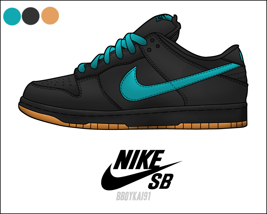 Nike SB Dunk Low Turquoise Black Gum by ThatKidDave on DeviantArt 67dc3b659