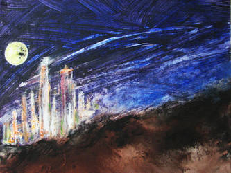 Angel's City 24x30 by S-Vogel-Art