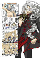 The Legend of the Black Fallen Hero YONKOMA two by daichikawacemi