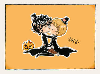 Halloween 2017 Sherlock and John by daichikawacemi