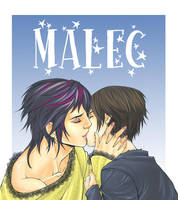 Alec y Magnus Kiss by xiannustudio