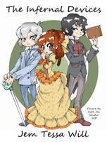 Fanart The Infernal Devices - Cazadores de Sombras by xiannustudio