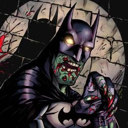 Zombie Batman by kaledfwlch