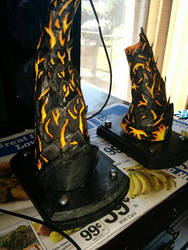 Deathwing Horn Wall Hooks by nanecakes