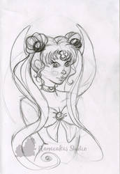 Sailor Moon warm up sketch by nanecakes