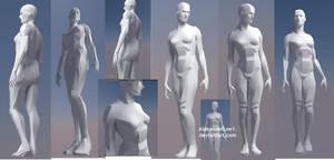 Female figure model by AlexanderLee1