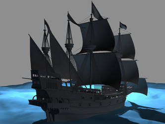 Galleon WIP 2 by DeviantKaled