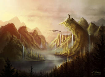 Aurora Lake by maril1