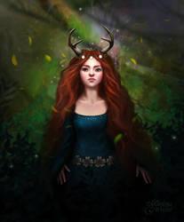 Lady Deer by maril1