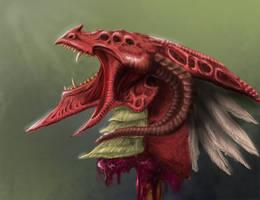 Demon Dragon Head (update) by Samariyu
