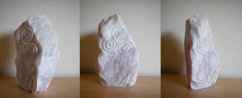 triple spiral stone by cybersamurai