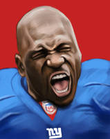 Brandon Jacobs Speed Painting by MikeMeth