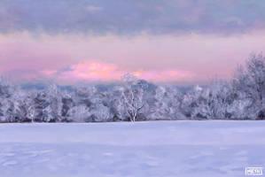 Winter Scene Study by MikeMeth