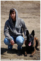 Dog and Handler by MauserGirl