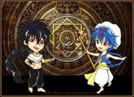 Magi - Judar and Aladdin Chibi by Hana-May