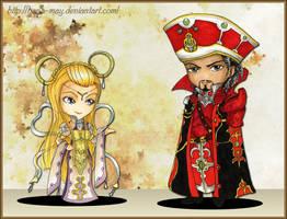 Trinity Blood - Mirka and Baybars Chibi by Hana-May