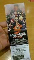 Ticket to the movie: naruto road to ninja by NaruHina1526