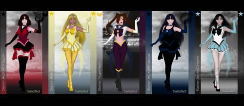 Astral Team + NightRain by LadyDarkStar