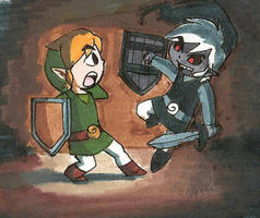 Link's Shadow by Left-Handed-Knight