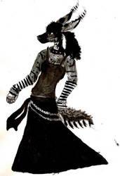striped hyena 'me' by XxTheLostxX