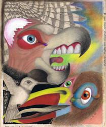 [1996] Gran condor sagrado con pajaro lenguado by nohandsnolegs