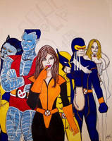 Kitty and The X-Men by JokerHarley2345