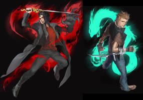 Commission - Kouki and Ryuu by shilin